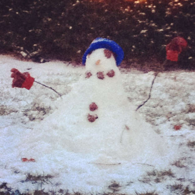 A for effort on the little snowman!